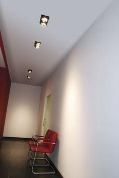 Spot encastrable au plafond / à LED / carré / orientable - COLLECTOR DOUBLE TRIMLESS - Doxis Lighting Factory N.V.