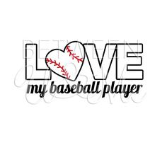 Love My Baseball Player TBall Little League by CleanCutStudio, $6.99