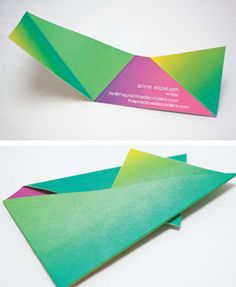 Origami Business Cards