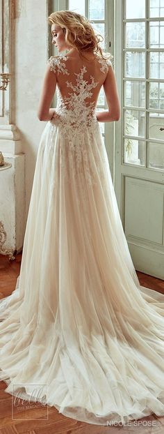 Nicole Spose Wedding Dress Collection 2017 Stunning Wedding Dresses, Bridal Wedding Dresses, Designer Wedding Dresses, Elegant Wedding, Wedding Ceremony, Wedding Venues, Dress Rings, Bridal Collection, Dress Collection