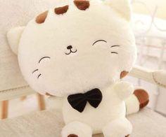 Include Tail Cute Plush Stuffed Toys Cushion Fortune Cat Doll CA Plush Dolls, Doll Toys, Kawaii Room, Cute Stuffed Animals, Kittens And Puppies, Toy Art, Cute Pillows, Cat Doll, Cute Plush