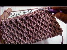 كروشيه غرزه جديده مجسمه لعمل شنطة, بورتفيه, باسكت, بلوفر كوفيه crochet  ... Crochet Bag Tutorials, Crochet Flower Tutorial, Crochet Patterns For Beginners, Crochet Videos, Easy Crochet, Crochet Clutch Bags, Crochet Baby Shoes, Diy Crafts Knitting, Honeycomb Stitch
