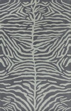 Zebra Kids Pink Gray Blue Persian Style Handmade Woolen Area Rug