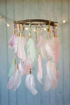 colourful feather mobile nursery decor 40 Adorable Nursery Decorating Ideas — RenoGuide - Australian Renovation Ideas and Inspiration Girl Nursery, Girls Bedroom, Bedrooms, Baby Girl Nursey, Fancy Bedroom, Boho Nursery, Girl Rooms, Diy Room Decor, Nursery Decor