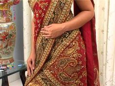 Video: Variations in draping #Dupataa over #Lehenga via  www.SareeDraper.com
