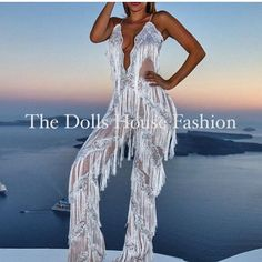 Our Lana Jumpsuit Made In House To Order. Exclusively sold online and in store. www.thedollshousefashion.com #summer #thedollshousefashion #jumpsuit