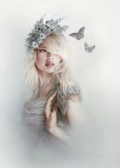 Kai Fine Art is an art website, shows painting and illustration works all over the world. Foto Fantasy, Fantasy Art, Wow Art, Jolie Photo, Pics Art, Pencil Art, Shades Of Blue, Amazing Art, Amazing Drawings