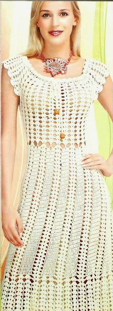10 mais Pins para sua pasta Vestidos de Crochê