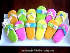 Flip flop cookies by fabcakelady, via Flickr