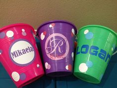 Custom Vinyl Name Decal Beach Bucket by PersonalizedJewellz, $10.00 #teamdream