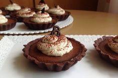 Čokoládové tartaletky   NejRecept.cz Mini Cakes, Cheesecake, Food And Drink, Cupcakes, Chocolate, Cooking, Breakfast, Recipes, Kitchen