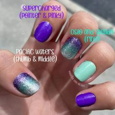 Sassy Nails, Cute Nails, Pretty Nails, Nail Color Combos, Nail Polish Colors, Casual Nails, Pedicure Colors, Nail Time, Disney Nails