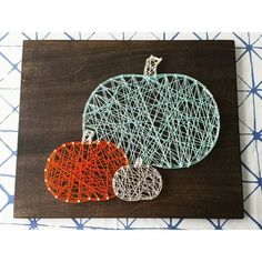 nice Pumpkin String Art