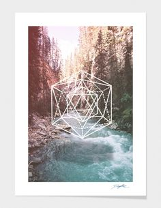 """River Geometry"" - Numbered Art Print by David Copithorne on Curioos"