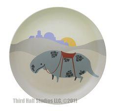 DINE ON ADORABLE STAR WARS ANIMALS WITH THESE DECORATIVE PLATES FROM THIRD HALF STUDIOS: Dewback