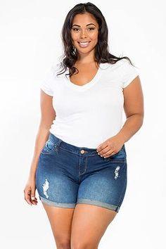 Junior Plus Size WannaBettaButt City Shorts @ LegacyLooks.com 1800-639-6710 #Summer #PlusSize