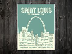 St. Louis Neighborhoods Poster St. Louis Arch by BentonParkPrints, $10.00