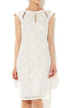 Stone Lace Keyhole Dress - Dresses - Clothing