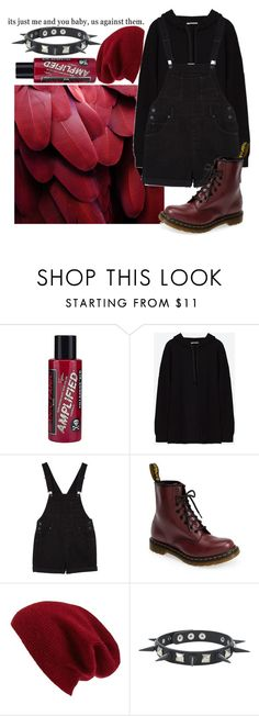 """You're the cherry, I'm a cigarette Chasing after midnight with you"" by biter-sweet ❤ liked on Polyvore featuring Manic Panic NYC, Monki, Dr. Martens and Halogen"