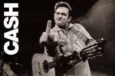 Johnny Cash (Middle Finger 2) Music Poster Print - 24 X 36 People Poster Print, 36x24 Music Poster Print, 36x24... $3.00 (57% OFF)