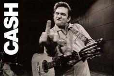Johnny Cash (Middle Finger 2) Music Poster Print - 24