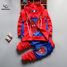 3Pcs Children Clothing Sets 2016 New Autumn Winter Toddler Kids Boys Clothes Hooded T-shirt Jacket Coat Pants Spiderman #>=#>=#>=#>=#> Click on the pin to check out discount price, color, size, shipping, etc. Save and like it!
