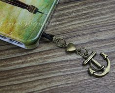 35 mm bronze anchor and the charm of dustproof by lovelybracelet, $0.59