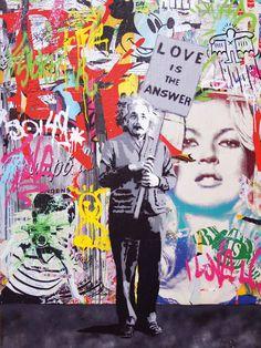 Einstein by Mr Brainwash Mr Brainwash Art, Art Du Monde, A Level Art, Street Art Graffiti, Mixed Media Canvas, Street Artists, Acrylic Painting Canvas, Urban Art, Art Blog