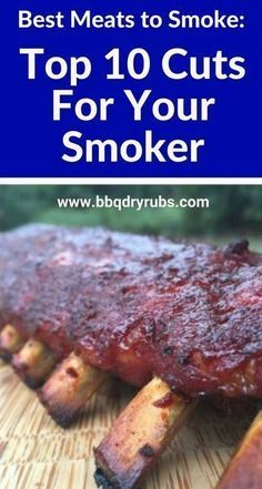 Best meats to smoke: Find out the top 10 cuts for your smoker. cuts Best Meats to Smoke: The Top Ten Cuts for Your Smoker Smoked Meat Recipes, Rib Recipes, Barbecue Recipes, Grilling Recipes, Grilling Tips, Traeger Recipes, Barbecue Sauce, Bbq Grill, Brats Recipes