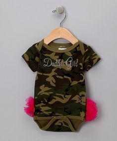 Take a look at this Camo Daddys Girl TuTushie Bodysuit - Infant by Klassy Kouture on #zulily today!