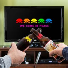 we come in peace   space invaders beer