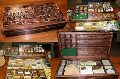 Arkham Horror box - the lid is removable and doubles as a card tray and dice box - very clever!