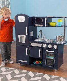 Look at this KidKraft Navy Vintage Play Kitchen on #zulily today!