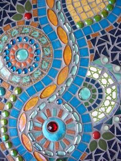 Turquoise River Mosaic Wall Hanging by memoriesinmosaics on Etsy, $195.00