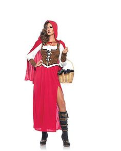 Woodland Red Riding Hood Womens Costume