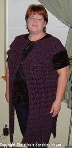 Plus-Size Long Vest/Cover-up free crochet pattern