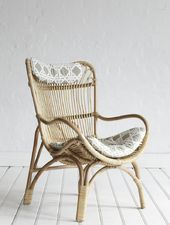 Rattan Slouch Chair Natural - approx 68cm in width x 76cm in depth x 102cm in height