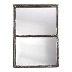 Reclaimed Iron Window Frame Mirror on Chairish.com