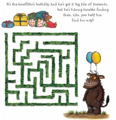 FREE Gruffalo Printable Activity Sheets - Fun Finds For Families