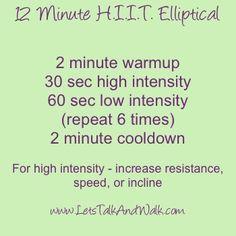 elliptical hiit 15 minute - Google Search