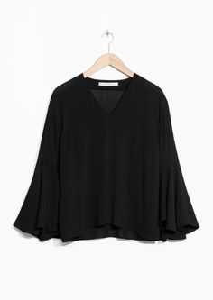 & Other Stories image 2 of Flared Sleeve Blousein Black