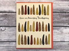Thanksgiving Greeting Card Corn on the Cob Maize Holiday by HastingsStudio on Etsy