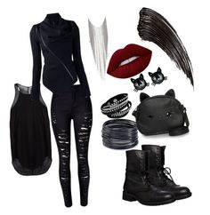 """""""Untitled #3"""" by fearymelek on Polyvore featuring Rick Owens, WithChic, Steve Madden, Chanel, ABS by Allen Schwartz, Betsey Johnson, Loungefly and Lime Crime"""