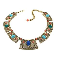 """Heidi Daus """"Queen of the Nile"""" Carved Station Necklace"""