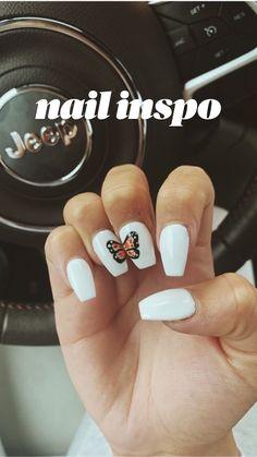 Halloween Acrylic Nails, Acrylic Nails Coffin Short, Simple Acrylic Nails, Summer Acrylic Nails, Best Acrylic Nails, Summer Nails, Colorful Nails, Coffin Nails, Cute Spring Nails
