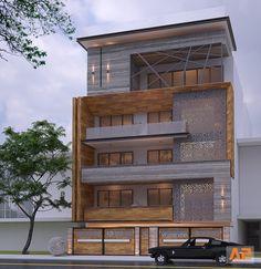 House Gate Design, Duplex House Design, House Front Design, Small House Design, Architecture Building Design, Facade Design, Exterior Design, Modern Bungalow Exterior, Modern House Facades