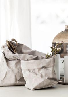 DIY: un macetero con una bolsa de churros I handmade paper bags #scandinavian style nordic deco