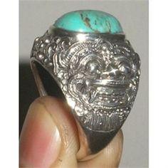 Cincin Perak tradisional motif Barong