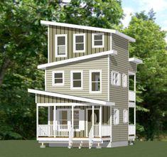 16x16 Tiny House -- #16X16H22C -- 671 sq ft - Excellent Floor Plans