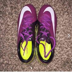 Nike mercurial soccer cleats New without box. Size 6 youth but are way too big for me. I am a size 7 but they are at least a size 8 or 8.5 in women's. Nike Shoes Athletic Shoes